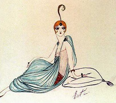 erte-fashion-sketch-with-turban-and-harem-pants1
