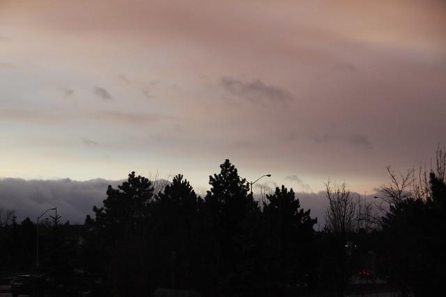 eveing sky