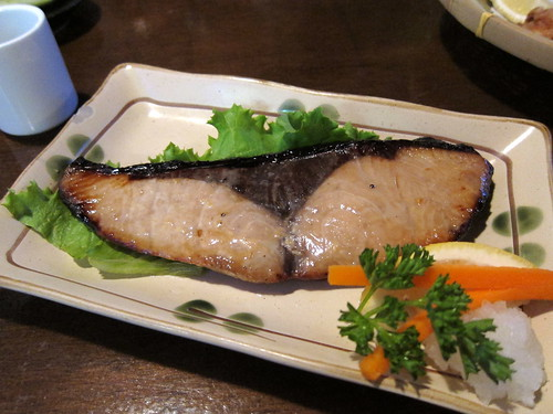 soy marinated yellowtail