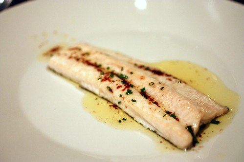 trout brown butter lemon chive