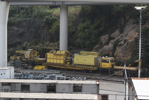 Miscellaneous track machines at Hung Hom yard