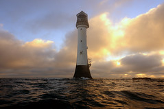 Winter sunrise at the Bell Rock lighthouse (12 miles off of Arbroath), Angus, Scotland (iancowe) Tags: morning winter lighthouse rock sunrise dawn scotland bell angus scottish stevenson arbroath bellrock northernlighthouseboard nlb lighthousetrek bellrocklighthouse lightkeeperaward wbnawgbsct