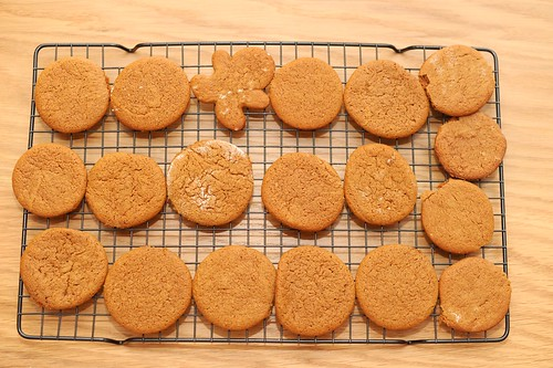 ginger rum molasses cookies