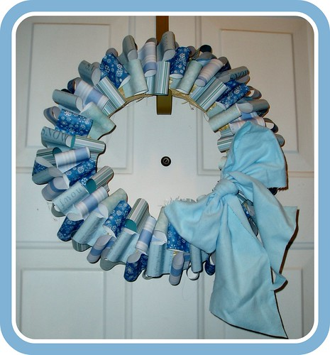 Winter-y Patterned Paper Wreath