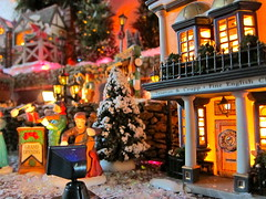 Dickens Village 2010 (kevin dooley) Tags: christmas street xmas musician house snow tree english lamp design town store streetlamp decoration streetscene scrooge collection christmasparty violin cello dickens 56 2010 christmascarol hallmark grandopening charlesdickens dept56 department56 teaman dickensian dickensvillage ghostofchristmaspast marypage maryellenpage crupp teamanandcrupp