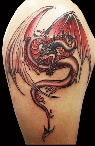 australian tattoo. custom dragon tattoo by craigy