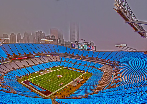 inside Carolina Panthers stadium by DigiDreamGrafix.com