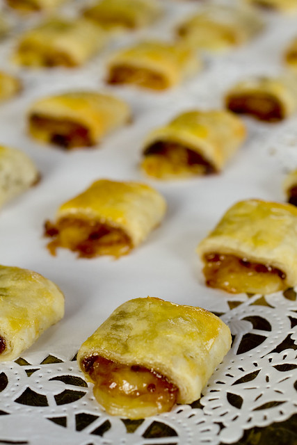 Plum and Brie Bites