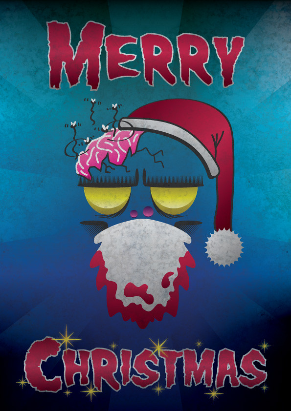 Create a Merry Christmas Zombie Poster in Illustrator