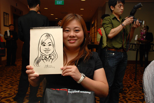 Caricature live sketching for Swiss Precision Dinner & Dance 2010 - 4