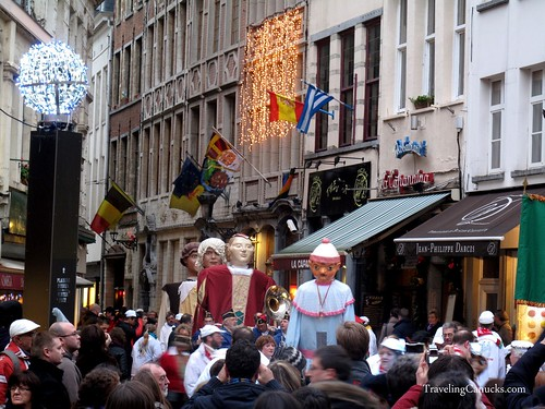 Christmas Parade in Brussels, Belgium