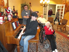Performing at Lakeview Manor