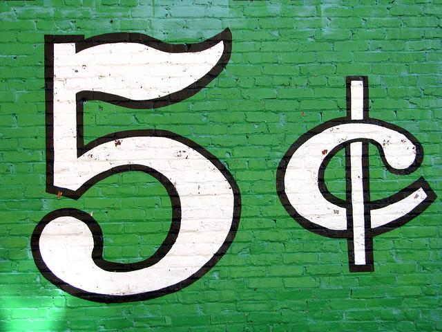 5¢ cents (Old restored Coke Mural)