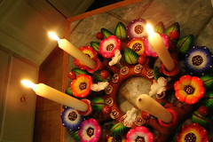 Candle light (Texas to Mexico) Tags: christmas holiday navidad colorful advent adventwreath oaxaca celebrate barro artesania hechoenmexico ceramicos candelarias