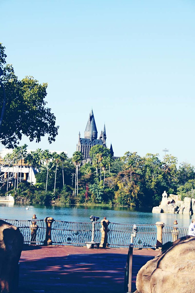 Hogwarts across the lake