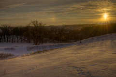 Snowy Sunset with Sun Dog (Carl's Photography) Tags: sky sun cold tree minnesota pine clouds landscape iso100 nikon outdoor glory horizon processing wonderland f11 mn drifts sundog hdr scenics lightroom beautyinnature photomatixpro 18200mmf3556gvr adobelightroom 11000sec d7000 nikond7000 gettyartistpicks 11000secatf11 adobephotoshopcs5