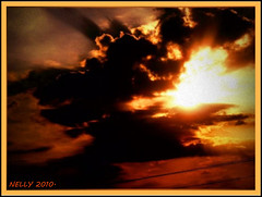 *STORMY... (MONKEY50) Tags: winter sunset sky orange cloud brown sun black color colour colors beautiful yellow clouds digital golden colours paintshoppro soe justclouds skytheme flickraward colourartaward skyascanvas pentaxart