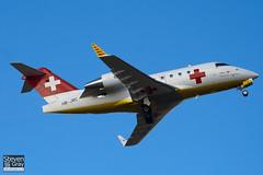 HB-JRC - 5540 - REGA Swiss Air Ambulance - Canadair CL-600-2B16 Challenger 604 - Luton - 100209 - Steven Gray - IMG_7018