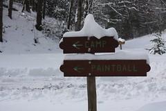 Whisper  Mountain :: directional sign (Along The Trail) Tags: winter snow snowpiles natureinwinter whispermountain