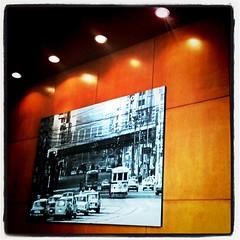 スタバ店内に都電時代の茅場町の写真が飾られてる\(^o^)/