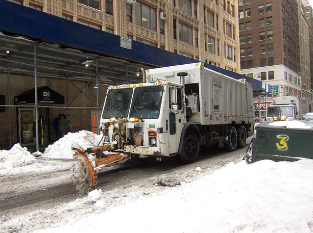 Garbage Truck Snow Plow