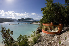 Jewel of the Seas (blueheronco) Tags: cruise haiti dock ship lookout labadee fisheyelense jeweloftheseas royalcaribbeancruises