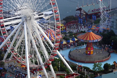 The teeming masses on Navy Pier are a delight to behold, but some feel the commercialization is not.