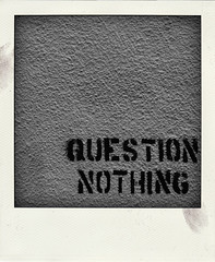 QUESTION NOTHING (Leo Reynolds) Tags: bw polaroid stencil fake faux phoney fakepolaroid fauxpolaroid poladroid hpexif phoneypolaroid grouppoladroids xleol30x