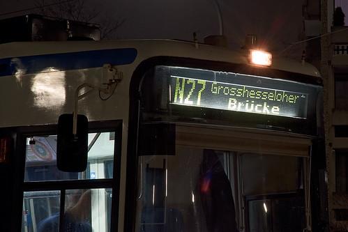 In der Silvesternacht fahren die Nachtlinien durchgehend im 15-Minuten-Takt