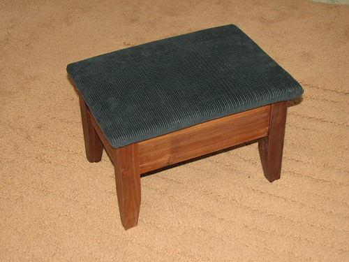 Walnut Footstool - Closed