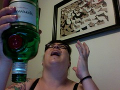 nooooooooo! (juneleaf) Tags: bottle photobooth empty gin tanqueray 2010 mish project365