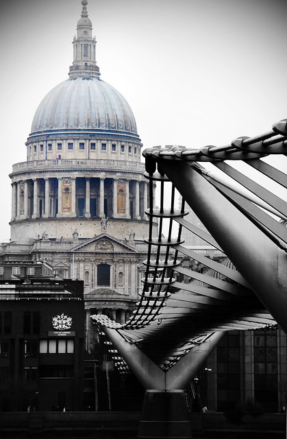 St Paul's with the Millennium Bridge