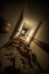 (5y12u3k) Tags: abandoned mess doors corridor hoover sanatorium hdr decayed vac paperwork urbex 14mm photomatix samyang