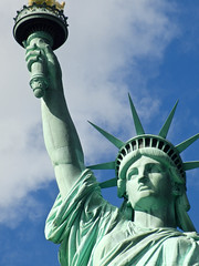 Pretty Lady (loveubillions) Tags: nyc newyork liberty manhattan bluesky statueofliberty libertyisland ladyliberty