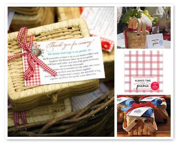 DIY Wedding Favor Idea: Picnic Style Wedding Favors | Things ...