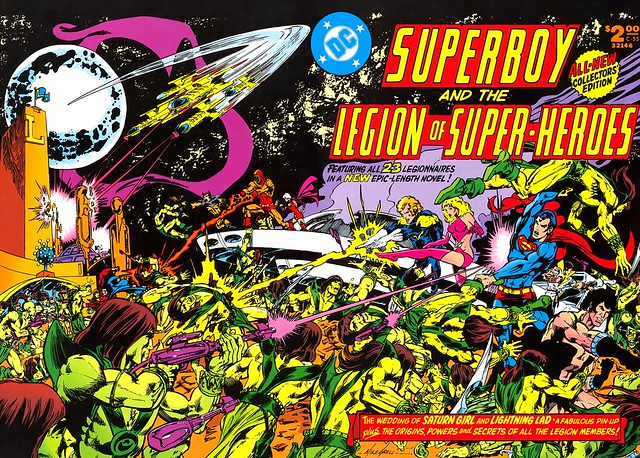 Superboy and Legion of Super-Heroes Collectors Edition cover by Mike Grell, c-55