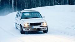 E30 325iX Touring (Lauri Ahtiainen) Tags: winter white snow canon finland eos cloudy 80s bmw 325 touring awd e30 325ix sharknose 40d ef702004lisusm alpineweis