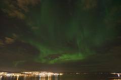 Nordlys - Troms city (B_Olsen) Tags: city aurora nightphoto northernlights auroraborealis nordlys nikond90 tromsby tokina1116mmf28 tokina1116mm atx116prodx tokinaatxprodx