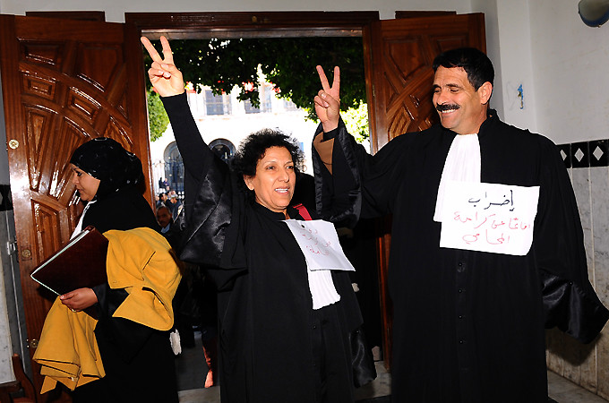 Lawyers in the North African state of Tunisian have embarked upon a nationwide strike. There were mass demonstrations inside the country in December 2010.
