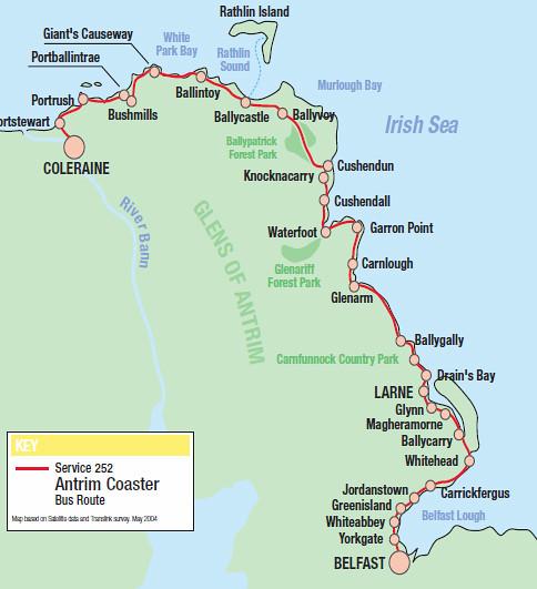 Antrim Coast Route Bus