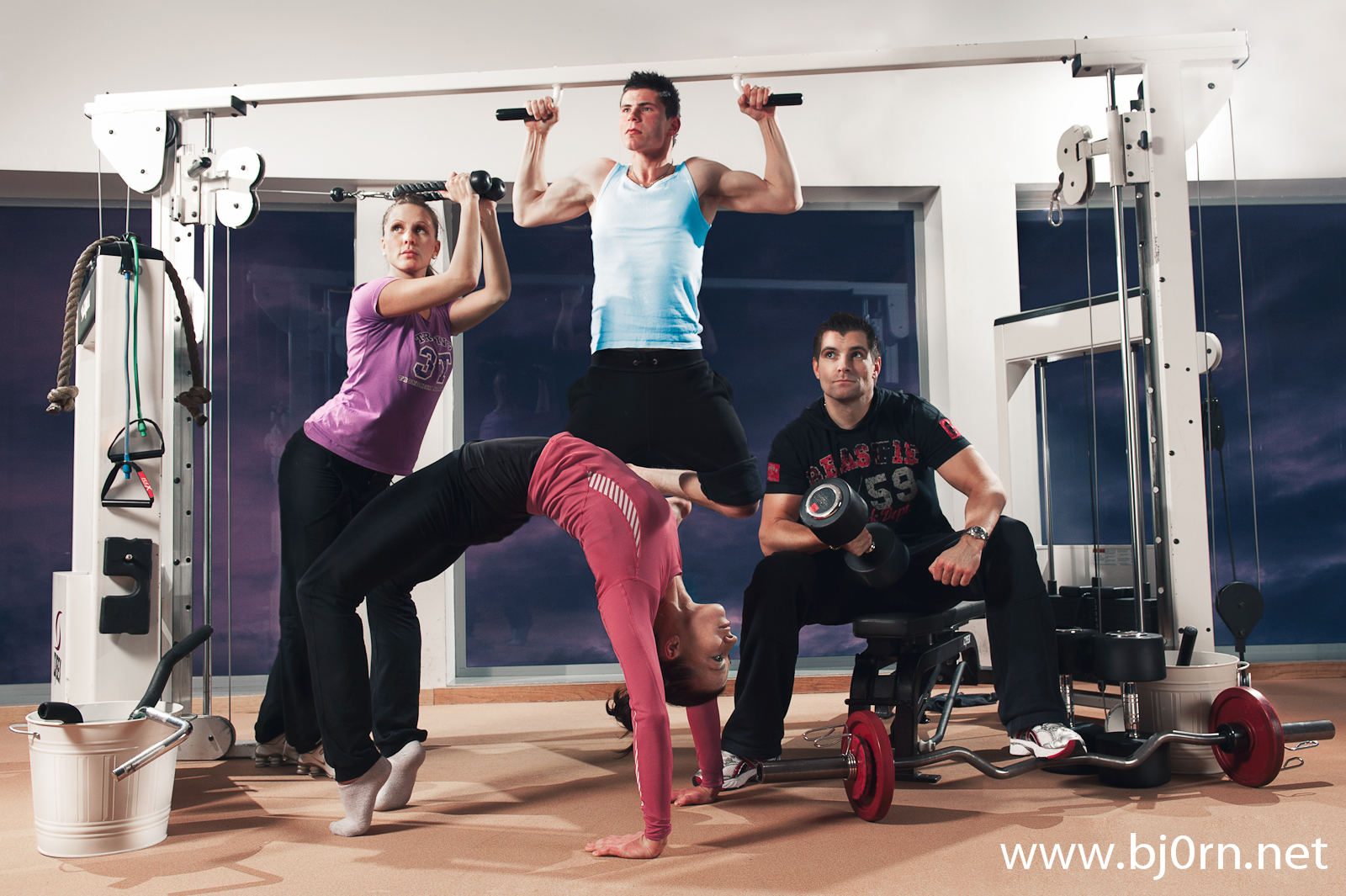 photo:Bjørn Christiansen, models: Ida Carin DAhl, Ole Anders Dahl, Jan Arild Grønskag and Aina Asbjørnsen, 3T - Gym Instructors