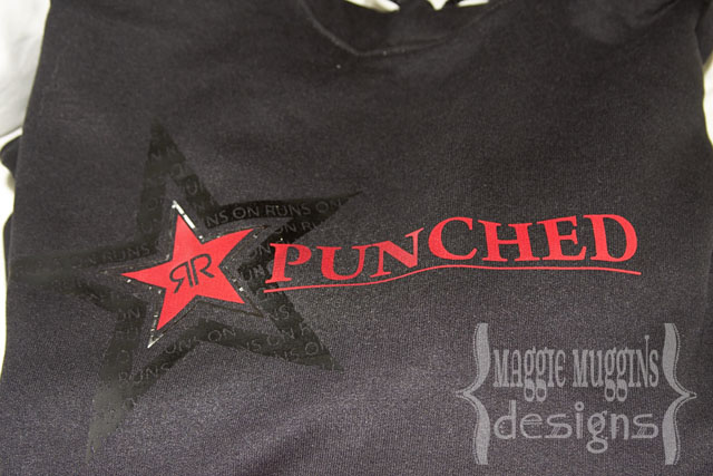 Rockstar Punched Hoodie with Silhouette Heat Transfer Vinyl