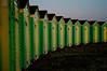beach huts 2 (Ice Badger) Tags: blue green art beach yellow d50 bench nikon westsussex perspective huts seats beachhut dslr littlehampton d90