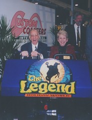 Bill & Pat Koch in a Legend car at IAAPA Expo 1999.