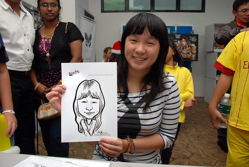 Caricature live sketching for Snow City - Day 8 - 12