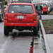 New Seasons overflow parking in bike lane-4
