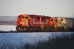 SOO #6059, #6053, #4603 running West along the Mississippi River (pvilleff33) Tags: snow minnesota river mississippi engine soo grail mn sd60m gp40 sd60 4603 6059 6053