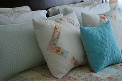 pillows on my bed (crazymomquilts) Tags: quilt pillows simplicity patchwork