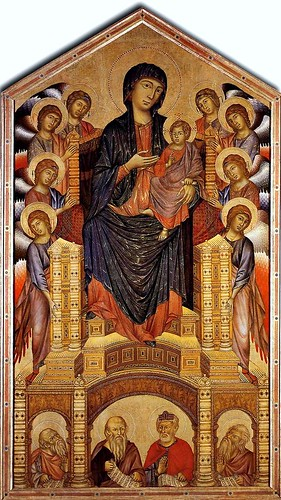 cimabue madonna enthroned with angels. Cimabue. Madonna and Child