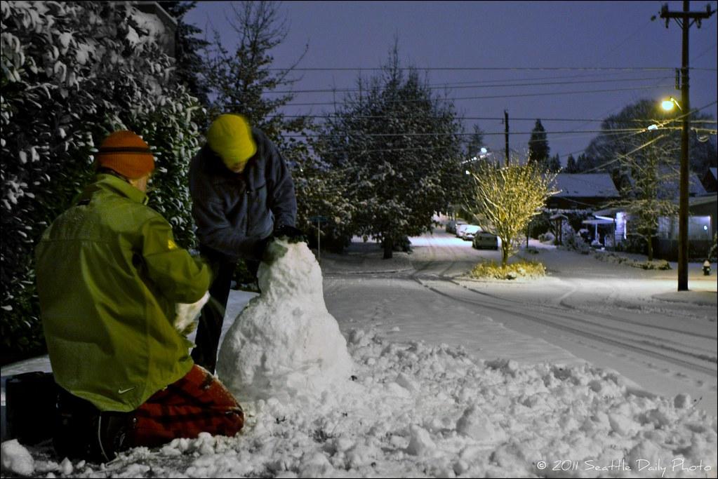 1:30 AM Snowman Build
